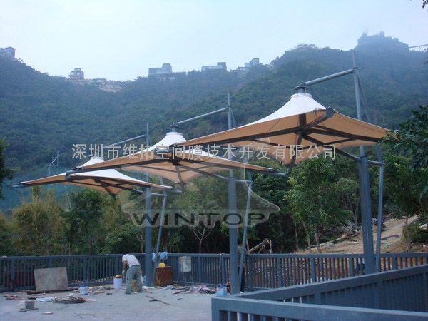 惠州南昆山风景区张拉膜工程制作安装